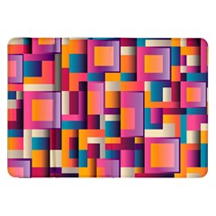 Abstract Background Geometry Blocks Samsung Galaxy Tab 8 9  P7300 Flip Case by Simbadda