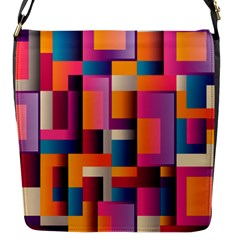 Abstract Background Geometry Blocks Flap Messenger Bag (s) by Simbadda