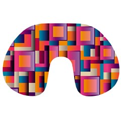 Abstract Background Geometry Blocks Travel Neck Pillows by Simbadda