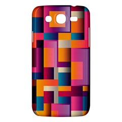 Abstract Background Geometry Blocks Samsung Galaxy Mega 5 8 I9152 Hardshell Case  by Simbadda
