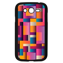 Abstract Background Geometry Blocks Samsung Galaxy Grand Duos I9082 Case (black) by Simbadda
