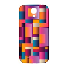 Abstract Background Geometry Blocks Samsung Galaxy S4 I9500/I9505  Hardshell Back Case