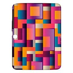 Abstract Background Geometry Blocks Samsung Galaxy Tab 3 (10 1 ) P5200 Hardshell Case  by Simbadda