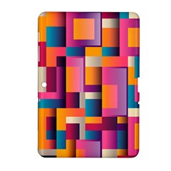 Abstract Background Geometry Blocks Samsung Galaxy Tab 2 (10 1 ) P5100 Hardshell Case  by Simbadda