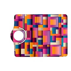 Abstract Background Geometry Blocks Kindle Fire Hd (2013) Flip 360 Case by Simbadda