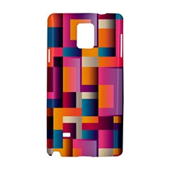 Abstract Background Geometry Blocks Samsung Galaxy Note 4 Hardshell Case by Simbadda