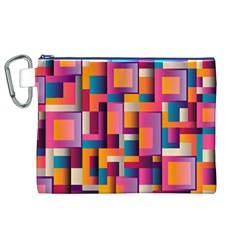 Abstract Background Geometry Blocks Canvas Cosmetic Bag (xl) by Simbadda