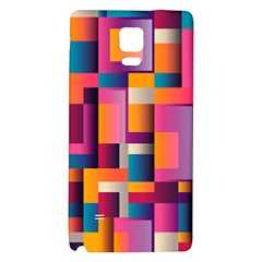 Abstract Background Geometry Blocks Galaxy Note 4 Back Case by Simbadda