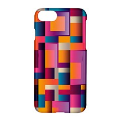 Abstract Background Geometry Blocks Apple Iphone 7 Hardshell Case by Simbadda