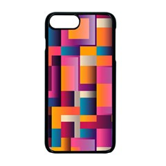 Abstract Background Geometry Blocks Apple Iphone 7 Plus Seamless Case (black) by Simbadda