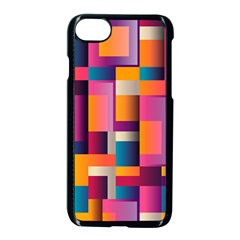 Abstract Background Geometry Blocks Apple Iphone 7 Seamless Case (black) by Simbadda