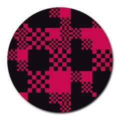Cube Square Block Shape Creative Round Mousepads by Simbadda