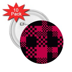 Cube Square Block Shape Creative 2 25  Buttons (10 Pack)  by Simbadda