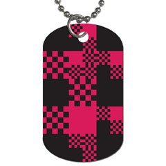 Cube Square Block Shape Creative Dog Tag (one Side) by Simbadda