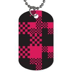 Cube Square Block Shape Creative Dog Tag (two Sides) by Simbadda