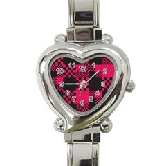 Cube Square Block Shape Creative Heart Italian Charm Watch by Simbadda