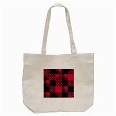 Cube Square Block Shape Creative Tote Bag (cream) by Simbadda