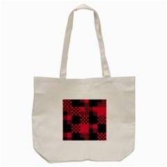 Cube Square Block Shape Creative Tote Bag (cream) by Simbadda