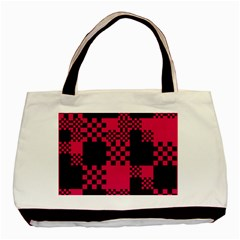 Cube Square Block Shape Creative Basic Tote Bag by Simbadda
