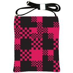 Cube Square Block Shape Creative Shoulder Sling Bags by Simbadda
