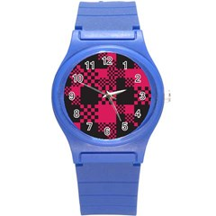 Cube Square Block Shape Creative Round Plastic Sport Watch (s) by Simbadda