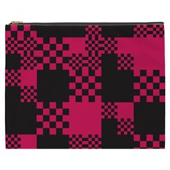 Cube Square Block Shape Creative Cosmetic Bag (xxxl)  by Simbadda