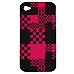 Cube Square Block Shape Creative Apple Iphone 4/4s Hardshell Case (pc+silicone) by Simbadda