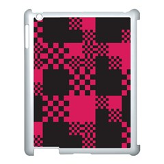 Cube Square Block Shape Creative Apple Ipad 3/4 Case (white) by Simbadda