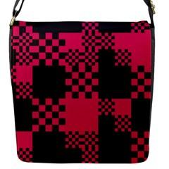 Cube Square Block Shape Creative Flap Messenger Bag (s)