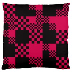 Cube Square Block Shape Creative Standard Flano Cushion Case (one Side) by Simbadda