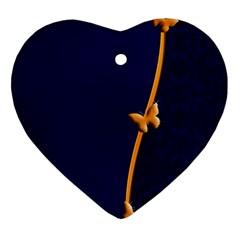 Greeting Card Invitation Blue Ornament (heart) by Simbadda