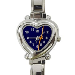 Greeting Card Invitation Blue Heart Italian Charm Watch by Simbadda