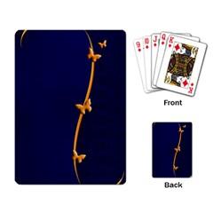 Greeting Card Invitation Blue Playing Card by Simbadda