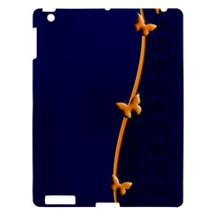 Greeting Card Invitation Blue Apple Ipad 3/4 Hardshell Case by Simbadda