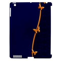 Greeting Card Invitation Blue Apple Ipad 3/4 Hardshell Case (compatible With Smart Cover) by Simbadda