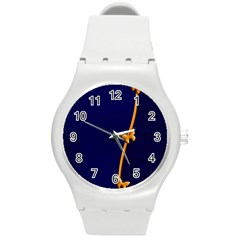 Greeting Card Invitation Blue Round Plastic Sport Watch (m) by Simbadda