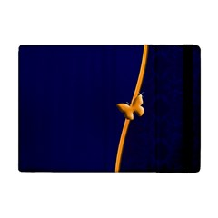 Greeting Card Invitation Blue Apple Ipad Mini Flip Case by Simbadda