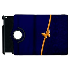 Greeting Card Invitation Blue Apple Ipad 2 Flip 360 Case by Simbadda
