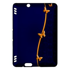 Greeting Card Invitation Blue Kindle Fire Hdx Hardshell Case by Simbadda