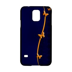 Greeting Card Invitation Blue Samsung Galaxy S5 Hardshell Case  by Simbadda