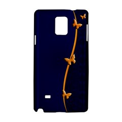 Greeting Card Invitation Blue Samsung Galaxy Note 4 Hardshell Case by Simbadda