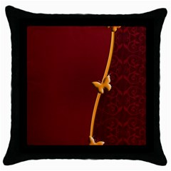 Greeting Card Invitation Red Throw Pillow Case (black) by Simbadda
