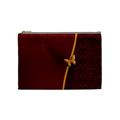 Greeting Card Invitation Red Cosmetic Bag (medium)  by Simbadda