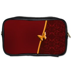 Greeting Card Invitation Red Toiletries Bags by Simbadda