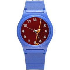 Greeting Card Invitation Red Round Plastic Sport Watch (s) by Simbadda