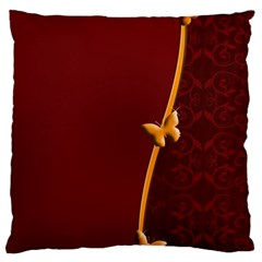 Greeting Card Invitation Red Large Cushion Case (one Side) by Simbadda