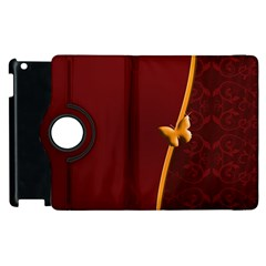 Greeting Card Invitation Red Apple Ipad 3/4 Flip 360 Case by Simbadda