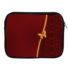 Greeting Card Invitation Red Apple Ipad 2/3/4 Zipper Cases by Simbadda