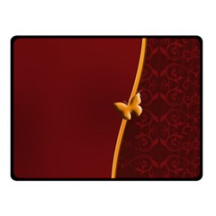 Greeting Card Invitation Red Double Sided Fleece Blanket (small)  by Simbadda
