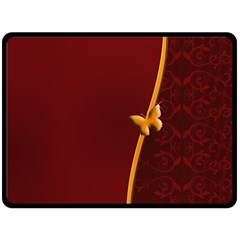 Greeting Card Invitation Red Double Sided Fleece Blanket (large)